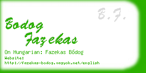 bodog fazekas business card